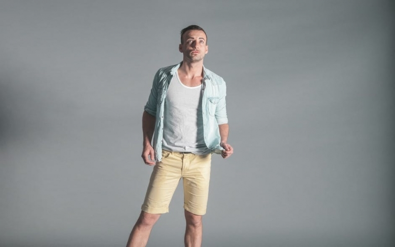 Fashion man person shorts