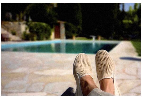 大人の男の真夏の休日靴